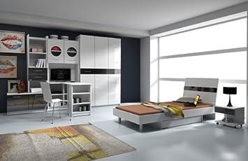 Jugendzimmer Komplett Weiß Hochglanz