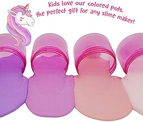d9a5732301d2 Original Stationery Slime Containers with Lids 6 Ounce [Perfect ...