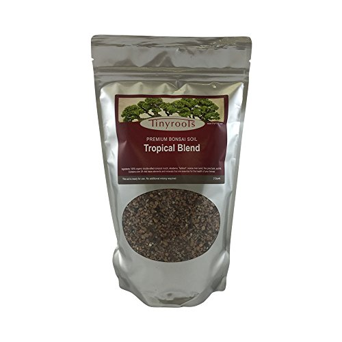 Tropical Bonsai Tree Soil Blend Two Quarts From Tinyroots. 100% Organic. For Ficus, Fukien Tea, Buttonwood, Dwarf Jade & other Tropical varieties. FRIT, Mineral Additives, Perfect For Healthy Bonsai Growth