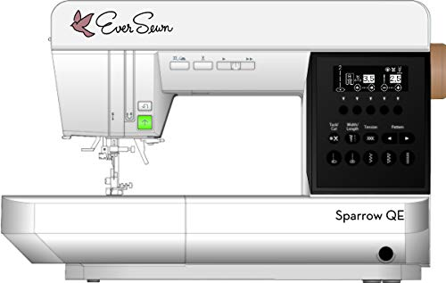 """EverSewn Sparrow QE – Professional Sewing and Quilting Machine – 8"""" Throat – 70 Stitch Patterns – Intuative Control Panel"""
