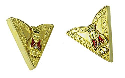 4031764 Set of Jester Collar Tips Stays ROJ Royal Order Jesters Billiken Formal Dress by Shrine & Mason Products