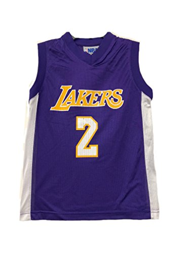 OuterStuff NBA Boys Youth 8-20 Player Name & Number Mesh Replica Jersey (Youth X-Large 18-20, Los Angeles Lakers Lonzo Ball)