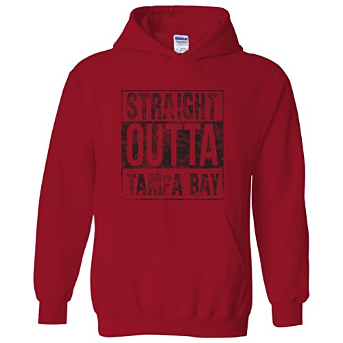 Straight Outta Tampa Bay - Football, Baseball, Hometown Pride Hoodie - Small - Red