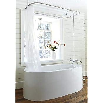Amazon Com Clawfoot Tub Shower Liner Frost Heavy Duty