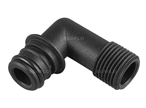 "SEAFLO 3/4"" QA x 1/2"" MNPT Elbow Pump Fitting w/O-Ring"