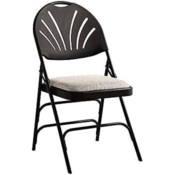 Amazon Com Samsonite Xl Series Folding Chair 4 Pack Black Gray