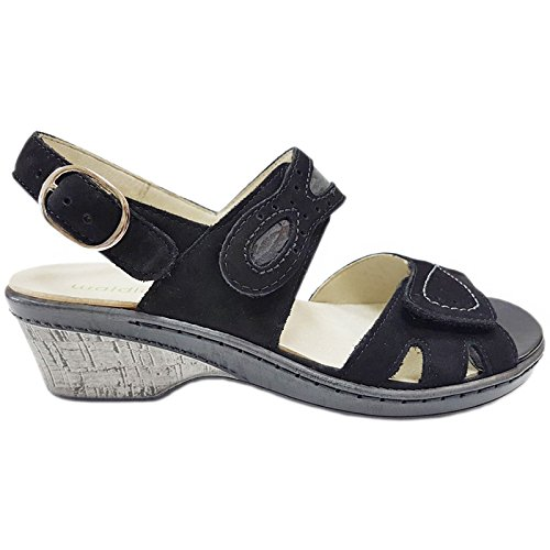 Ruddy Womens Hetta 547002 Sandali In Nabuk Nero