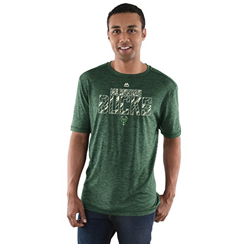 Majestic NBA Men's Future Highlight Play Performance T-shirt (Small, Milwaukee Bucks)]()