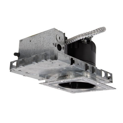 (WAC Lighting HRLED418NSQC LED me Square Downlight, New Construction Housing Non-IC Rating, Cool White Temperature, 6