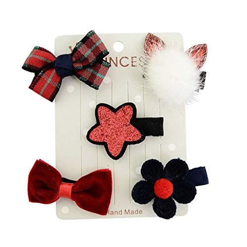 1.5 Inch Baby Girls Tiny Hair Bows Clips Fully Lined Snap Hair Pins Accessories ()