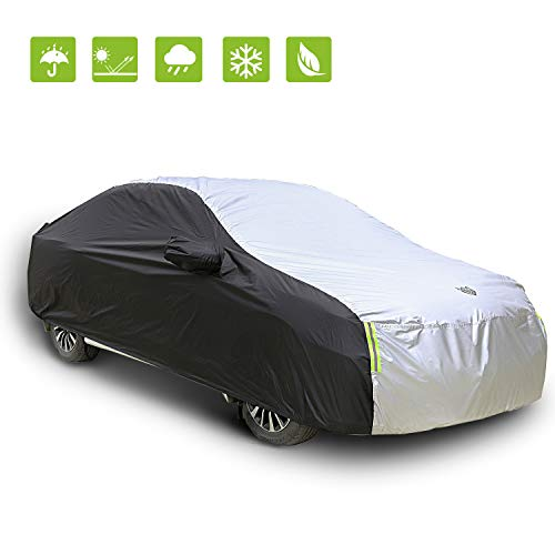 Seven Sparta Car Cover Universal Sedans SUV Hatchback Auto Vehicle Cover Waterproof Dustproof Scratchproof UV Protection XXL (202
