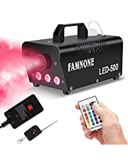 Fog Machine, 3 Stage LED Lights with 16 ColorS Controllable Lights Effect,500W Wireless Remote Control with Preheating Light Indicator for Weddings, Halloween, Parties & Stage