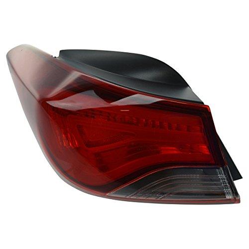 Tail Light Taillight Rear Outer Quarter Left Driver Side LH for Elantra (Quarter Left Driver)