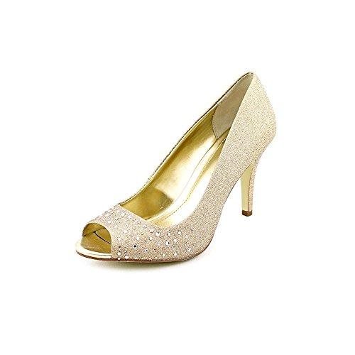 Style & Co. Frauen Peep Toe Slingback Klassische Pumps Gold Groesse 8.5 US/39.5 EU