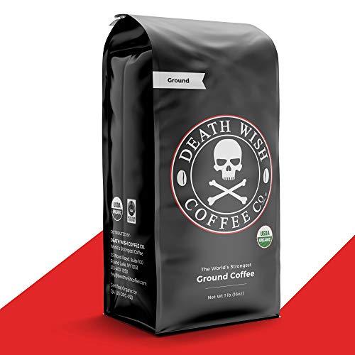 Death Wish Coffee, Dark Roast Coffee,  Grounded 16 oz