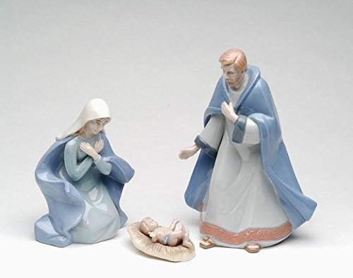 Cosmos Gifts 1292 Nativity Ceramic Figurine, 8-Inch, Set of 3 Nativity Ceramic