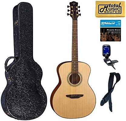 Luna Art grabador de guitarra acústica, concierto, acabado natural ...