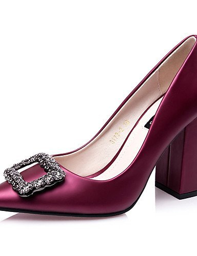 Wedding Women's Heel Black Silk Purple Chunky Burgundy Black Shoes Dress Green Gray ShangYi Heels Heels 0EIdq0x