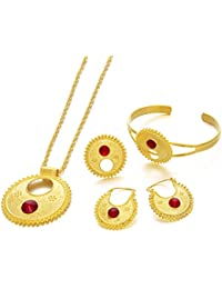 Jewelry 24KGP Ethiopian Habesha Jewelry Sets Eritrean Wedding Party New Arrival Items