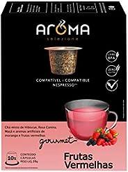 Cápsulas de Chá Frutas Vermelhas Aroma Selezione, Compatível com Nespresso, Contém 10 Cápsulas