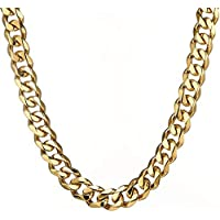 15mm Fashion Cut Curb Cuban Mens Chain Boys 316L Stainless Steel Necklace Bracelet 7-40 inches