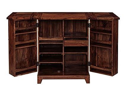 Inhouz INHZ0853(M) Bar Cabinet (Brown)