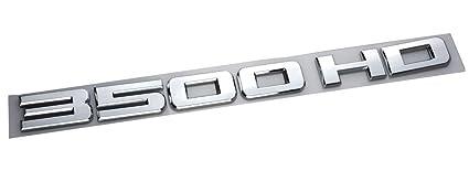 3x Chrome 3500HD 3500 Hd ABS Letter Emblem 3D Badge for Gm Chevrolet Silverado