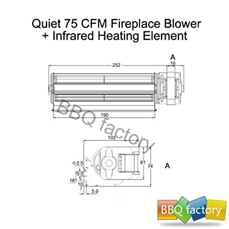 41d6XfAO4EL._SX466_ amazon com bbq factory replacement fireplace fan blower heating  at virtualis.co