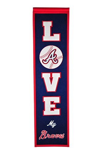 Winning Streak Love My Atlanta Braves 8x32 Heritage Banner