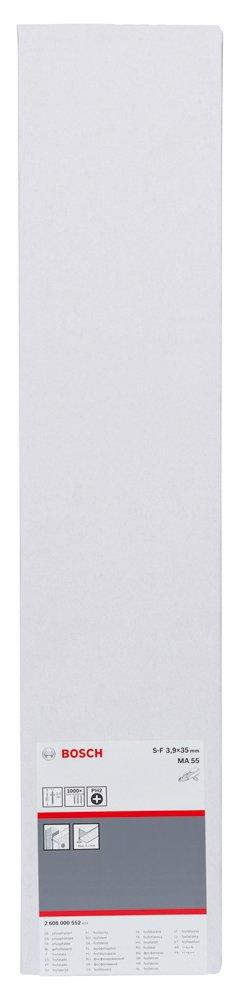 Bosch 2 608 000 552 Tornillo de rosca fina para montajes r/ápidos 3,9 x 35 S-F; 35 mm pack de 1000