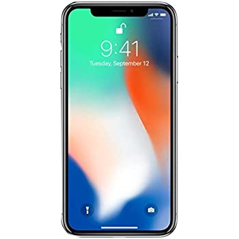new concept 72aa0 563a4 Apple iPhone X 64GB Unlocked GSM Phone - Silver (Renewed)