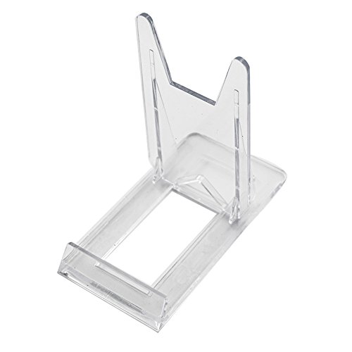Artliving Two Part Adjustable Clear Acrylic Plastic Display Stand Easel (Set of 6)