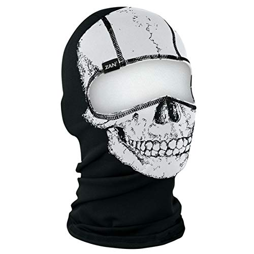 - Zan Headgear Skull Polyester Balaclava Comfortable, Low-Profile Fit for Use Under a Helmet WBP002