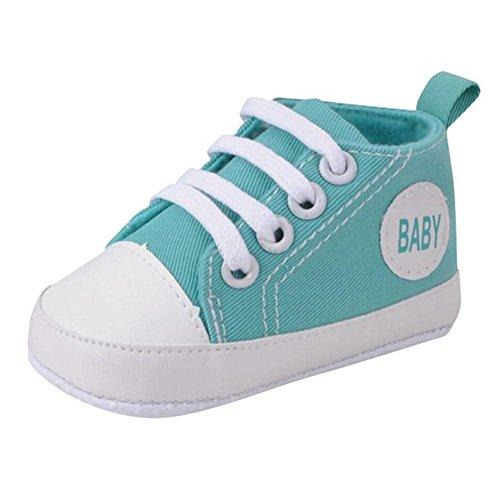Highdas Niños Children Chico&Girl Deportes Zapatos Zapatillas Sapatos Bebé Infantil Bebe Suave Bottom Primero Andadores Verde