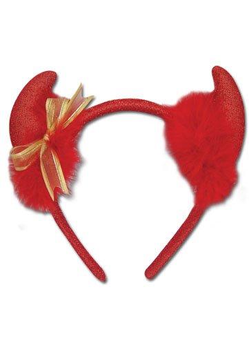 Devil Horn: Gold Ribbon Headband ()