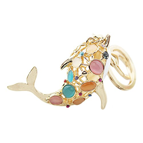 FOY-MALL Fashion Dolphin Opal Rhinestone Alloy Keychain Favors for Women Keys or Handbag Decoration - Dolphin Dolphin Mall Mall