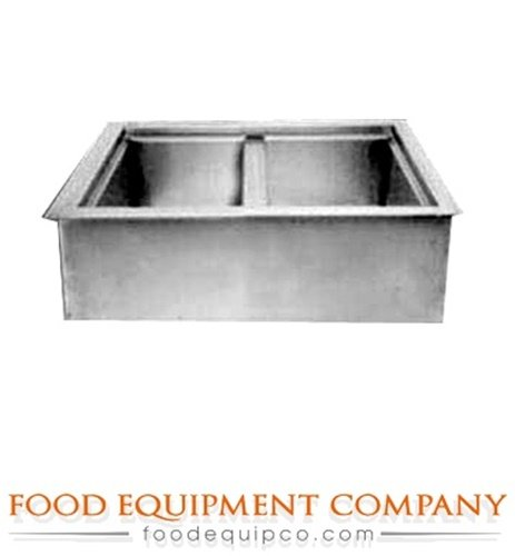 Drop In Iced Cold Pan - Wells ICP-200 Cold Food Unit drop-in iced cold pan 2-pan size with drain
