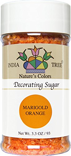 - India Tree Nature's Colors Marigold Orange Decorating Sugar, 3.3-Ounce