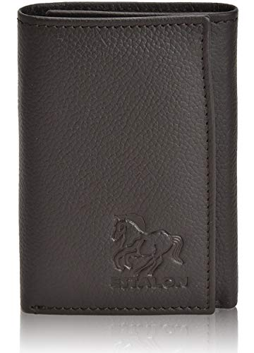 Slim Leather RFID Trifold for Men - RFID Blocking Genuine Leather wallet 7 Card Holder With ID Window