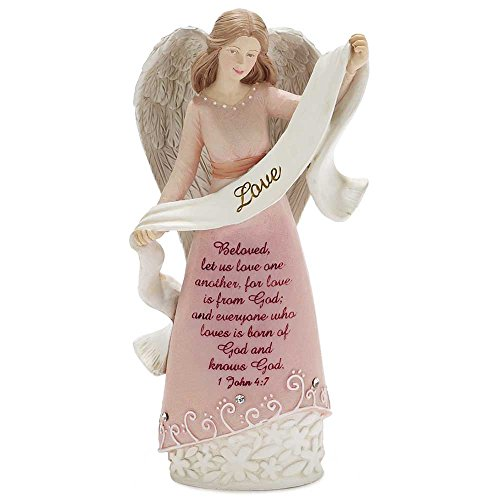 Dicksons Love Angel 1 John 4:7 6 x 3.5 inch Resin Stone Table Top Figurine from Dicksons