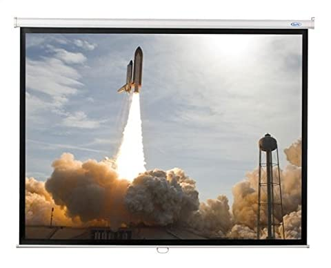 HMLWSW70 - Hamilton Buhl 70x70 WS-W70 - Matte White Fabric - Square Format Projector Screen - Buhl Flat