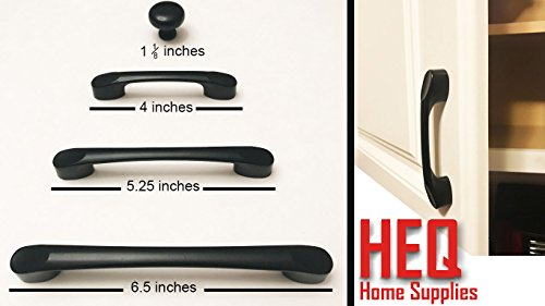 Cabinet Pull Handles and Knobs 10 Pack (10, Handle - 6.5 inches) by HEQ Home Supplies (Image #4)