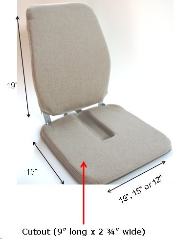 McCartys Sacroease Car Seat Support BRSCRXG2M-LTBRN by McCarty's