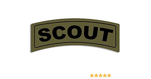MAGNET Green RECON Tab Shaped Magnetic Sticker army military