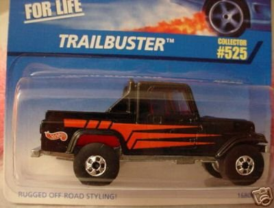 Mattel Hot Wheels 1997 1:64 Scale Black Trailbuster Die Cast Car Collector #525