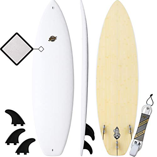Hybrid Surfboard - Best Performance Foam Surfboard for All Levels of Surfing - Custom Longboard & Shortboard Surfboard Shapes for Kids and Adults - Wax Free Soft Top + Fiberglassed Hard Bottom
