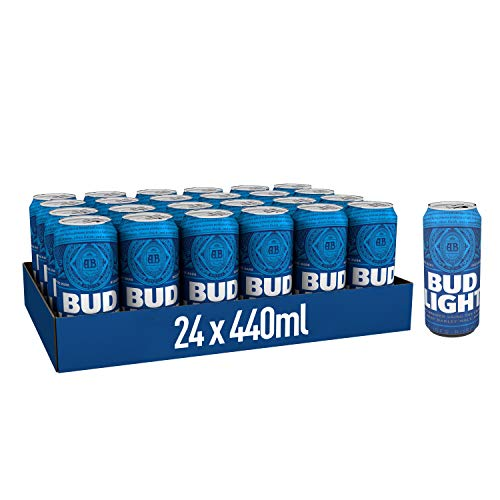 Bud Light Lager Beer 24x440ml Cans, 3 5% ABV