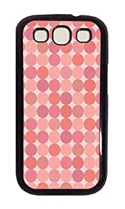Samsung S3 Case,VUTTOO Cover With Photo: Pink Dots For Samsung Galaxy S3 I9300 - PC Black Hard Case