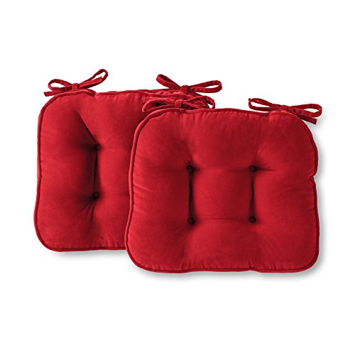 - Greendale Home Fashions Scarlet Chair Pads, Set of 2