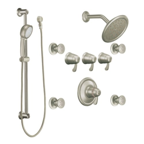 Moen TS275BN Exacttemp Exacttemp Transfer Vertical Spa, Brushed ()